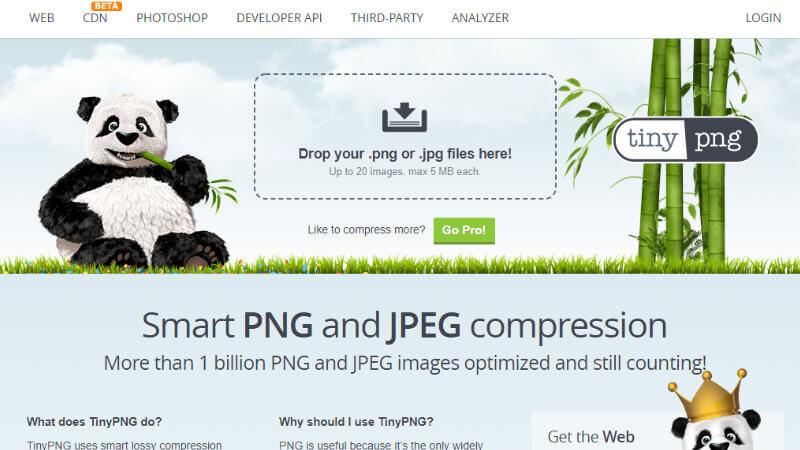 TinyPNGのページ