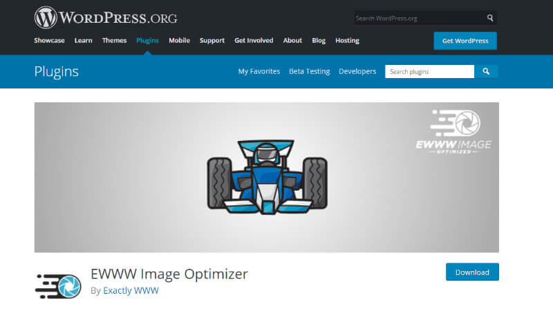 EWWW Image Optimizerのページ