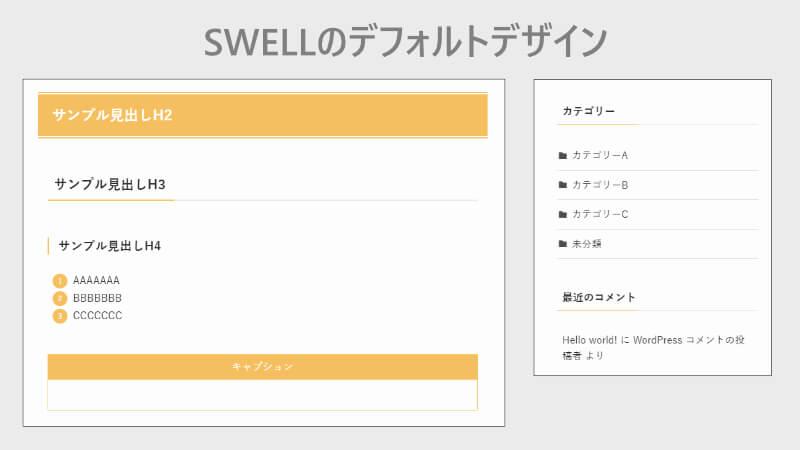 SWELLのデフォルトのパーツデザイン