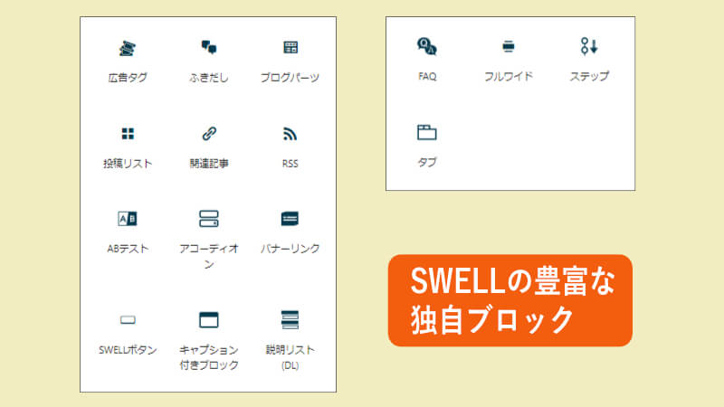 SWELLの独自ブロック紹介