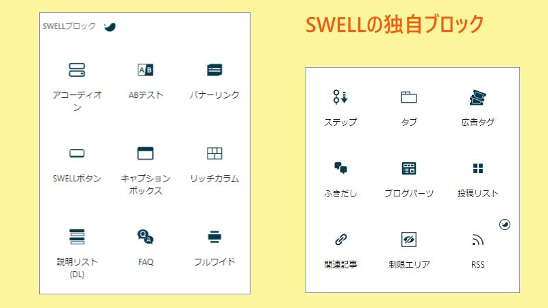 SWELLブロックエディタ画像